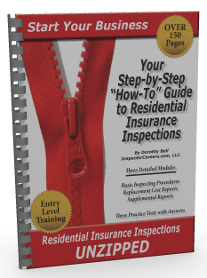 Residential Insurance Inspections UNZIPPED Training Manual - PDF DOWNLOAD